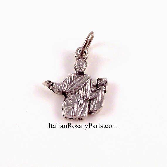 St Mark The Evangelist Bracelet Medal Charm  www.ItalianRosaryParts.com