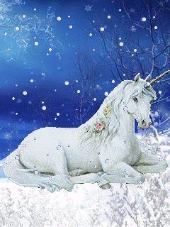 Snow Unicorn/ Thank You A Lovely! xx :-))