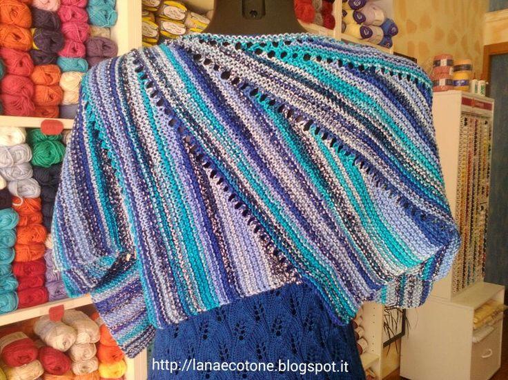 Lana e Cotone (maglia e uncinetto): Scialle Wingspan di Maylin
