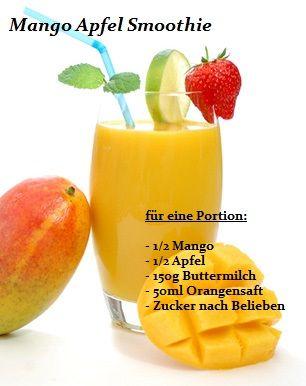 Rezept für einen Mango Apfel Smoothie