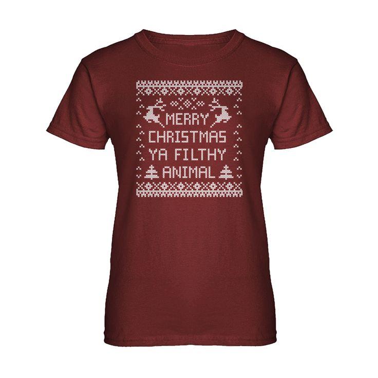 Merry Christmas Ya Filthy Animal Womens T-shirt
