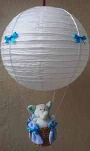 Lampshade flying balloon with a teddy bear ; allegro - Kurus2