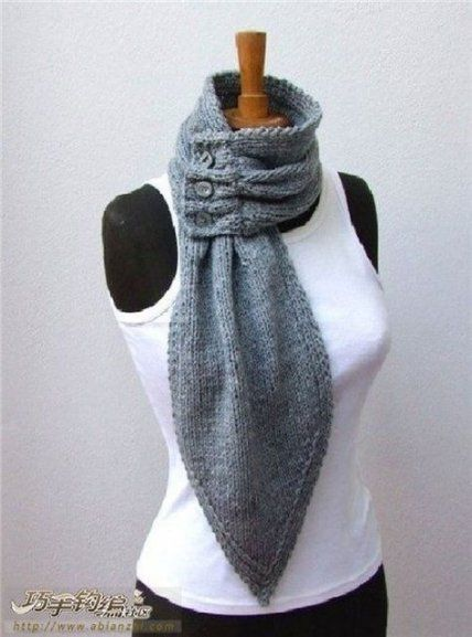 Try This Color Gradient Arm Knit Cowl Using Different Strands