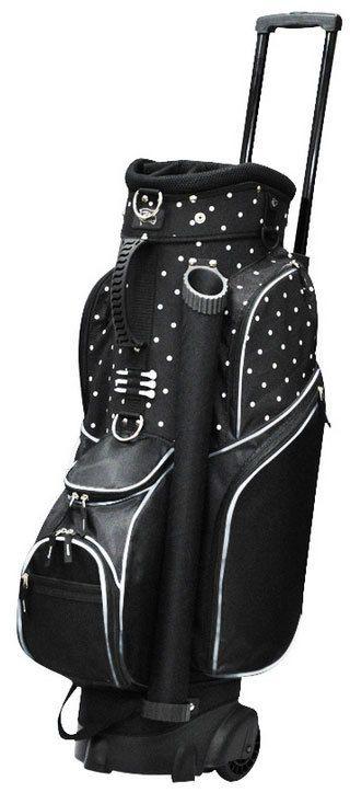 RJ Sports Wheeled Polka Dot Women's Golf Bag