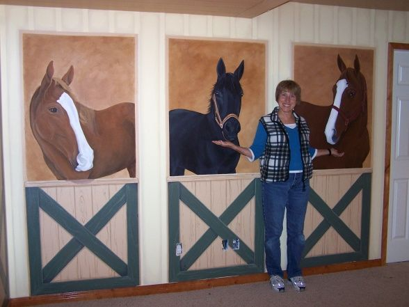 Attractive Girls Horse Bedroom Decor | Horse Stable Playroom, Its Not Decorated Yet  But The Girls