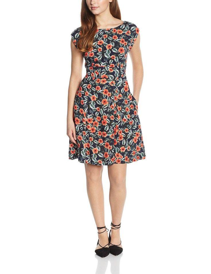 Vestido look hipster mujer manga corta con diseño estampado floral, ideal para esta primavera - verano.