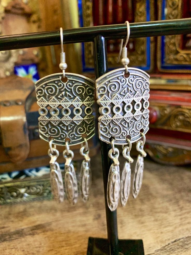 Boho earrings – tribal earrings – ottoman earrings – boho jewelry