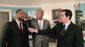Michelle Obama dunking on LeBron James… <-- Skill, son!