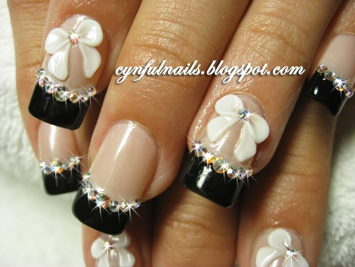 Luxury Nail Art With 3d Bows Pattern - Nail Art Design Ideas ...