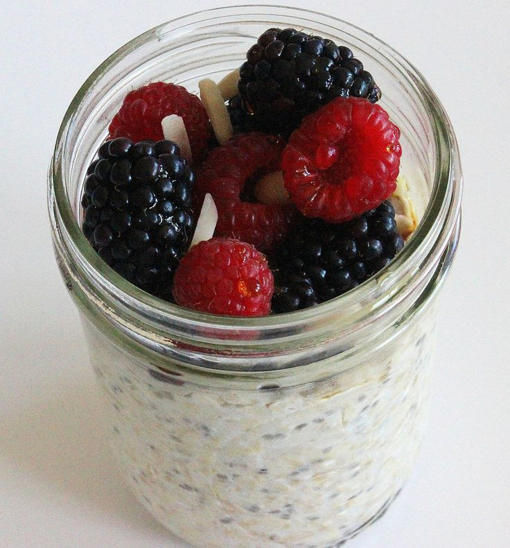 Time to hop on the overnight oats train if you haven't already, because this make-ahead breakfast only takes minutes to prepare. Top yours with half a container of vanilla soy yogurt and half a cup of fresh fruit, and this 450-calorie breakfast offers 15 grams of protein.
