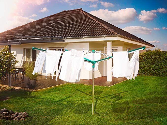 Leifheit Wascheschirm Linomatic 600 Deluxe Mit Leineneinzug Fur Saubere Wasche Waschespinne Fur Die Ganze Familie Waschesta Einzug Waschespinne Waschestander