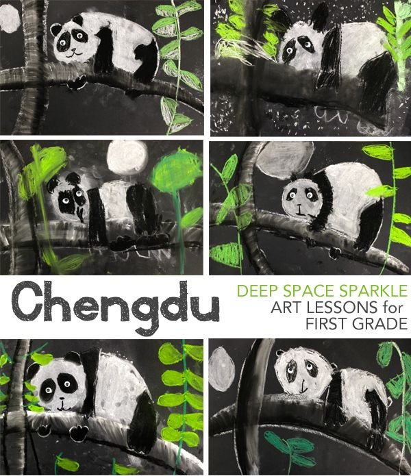 Panda Bear chalk pastel drawing for the book Chengdu