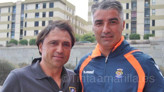 Los técnicos Alfredo Santaelena y Víctor Afonso