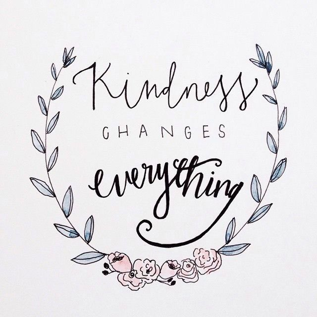 Kindness is a beautiful thing.