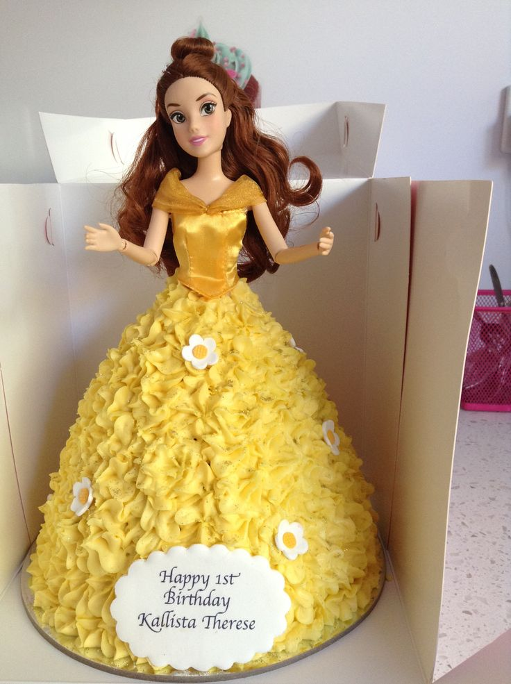 Our beautiful yellow Dolly Varden Cake for a very special first birthday.