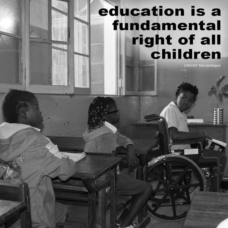"Do you agree that ""education is a fundamental right of all ..."
