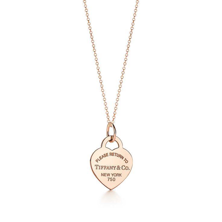 Return to Tiffany&Co. 18k rose gold necklace, medium