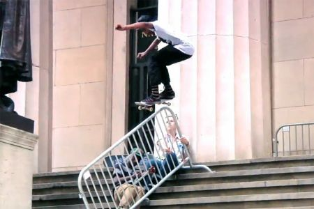Chuck Taylors, Supreme tees, barbered hair cuts, the Fucking Awesome am team and a joyride through the streets of Paris at twice the legal speed limit. Over the course of nine minutes, 'Joyride' happily puts it's index finger to disgruntled mumblings about the talents of Sean Pablo, Sage Elsesser, Tyshawn Jones and others, while also featuring a host of special appearances from Bryan Herman and Mark Gonzales.  http://kidsonstoke.com/?p=1627