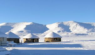 Snow in Lesotho