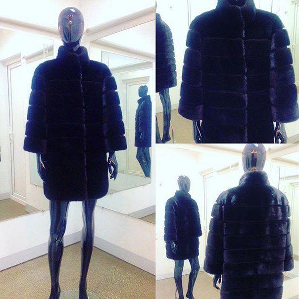 Шуба из меха норки Black аукцион Saga Furs     #essedesign #натуральныймех #норкаBlack #SagaFurs