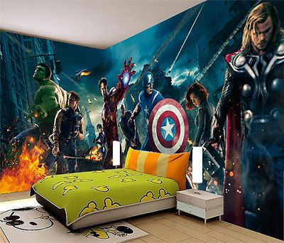 Avengers-Marvel-Heros-Iron-Man-3D-Full-Wall-Mural-Photo-Wallpaper-Home-Dec-Kids
