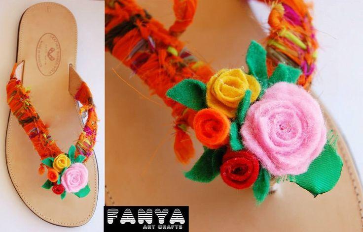"handmade sandals ""rosas"""