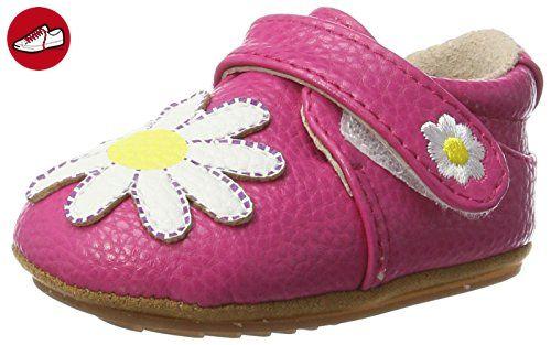 Rose & Chocolat Baby Mädchen Dainty Daisy Krabbel-& Hausschuhe, Pink (Fuchsia), 21/22 EU - Kinder sneaker und lauflernschuhe (*Partner-Link)