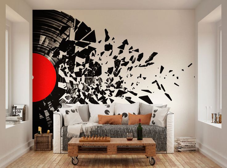 Music Wall Vinyl Records And Wall Murals On Pinterest
