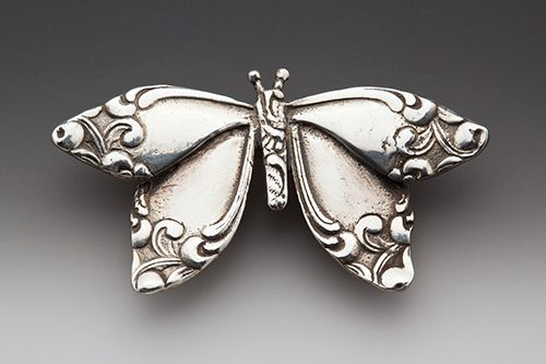Sweet Butterfly...Motivation to really learn how to solder+ made with silverware handles