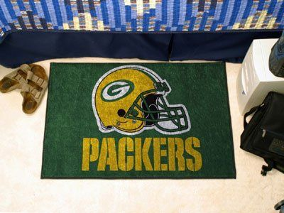 "Green Bay Packers Starter Rug 20""x30"" by Fanmats. $13.68. Green Bay Packers Starter Rug 20""x30""Decorate your home or office with area rugs by FANMATS. Made in U.S.A. 100% nylon carpet and non-skid recycled vinyl backing. Officially licensed and chromojet printed in true team colors. Please note: These products are custom made. The normal lead time is about 7-10 business days. However, the putting mats and carpet tiles do take a little longer, about 14-21 business days.***Th..."