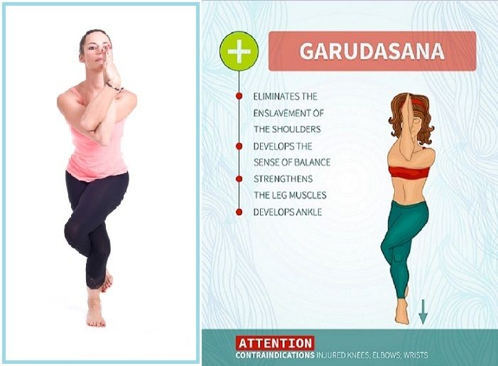 Garudasana Yoga Eagle Pose How To Do And Their Benefits Styles At Life Daily Workout Leg Muscles Workout