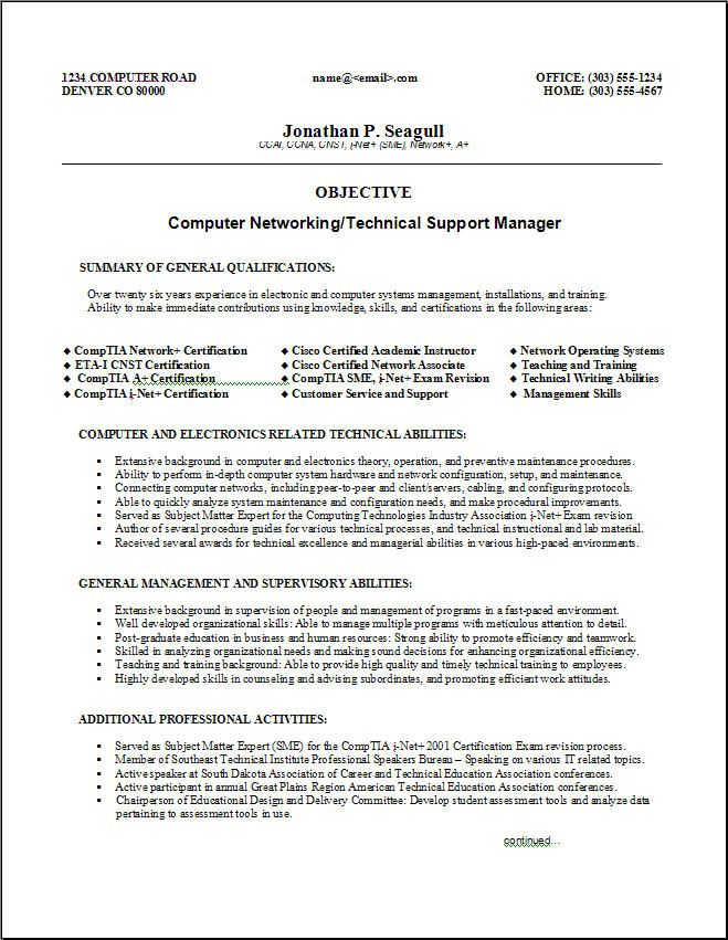 210 best Sample Resumes images on Pinterest Sample resume - technical support resume