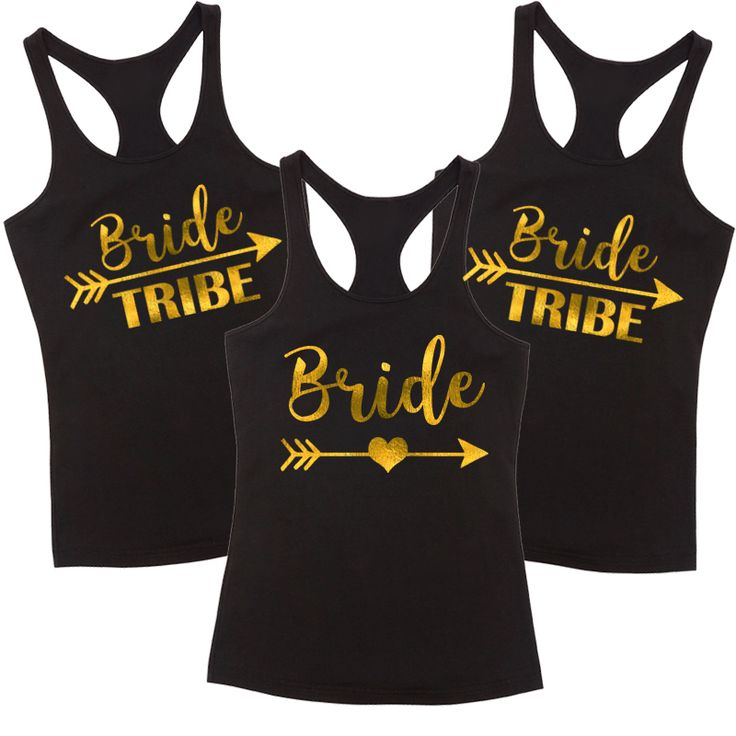 Bride & Bride Tribe T Shirt Pack