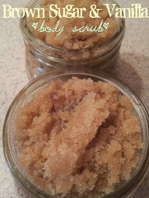 brown sugar and vanilla body scrub! Ingredients: *Two Cups Brown Sugar *One Cup Granulated Sugar *3/4-1 Cup Sunflower Oil *One Tbs Pure Vanilla Extrac