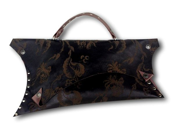 Handmade leather clutch (brown)