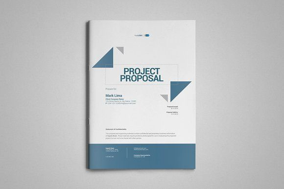 A4 Project Proposal Template by thirtypath on @creativemarket
