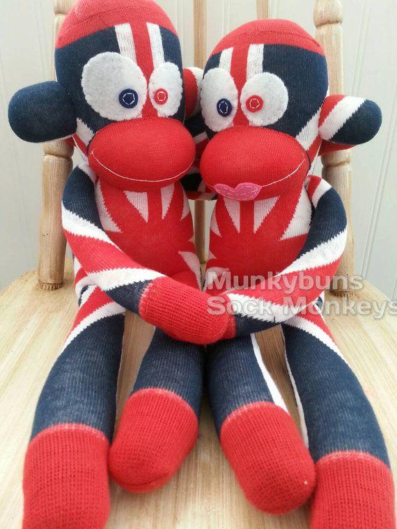 #PatrioticSockMonkey by MunkybunsSockMonkeys on Etsy #KellysSockMonkeyMania