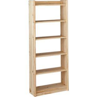 buy unfinished solid pine 6 shelf unit at. Black Bedroom Furniture Sets. Home Design Ideas
