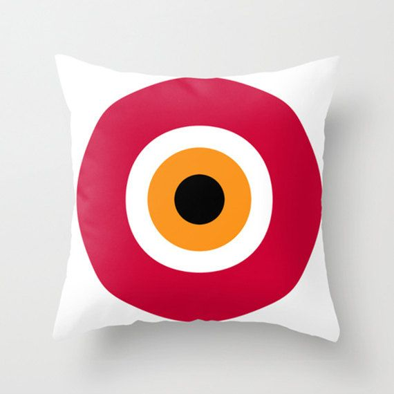 evil eye red cushions pillows decorative pillows. 16 by GorgeousGD