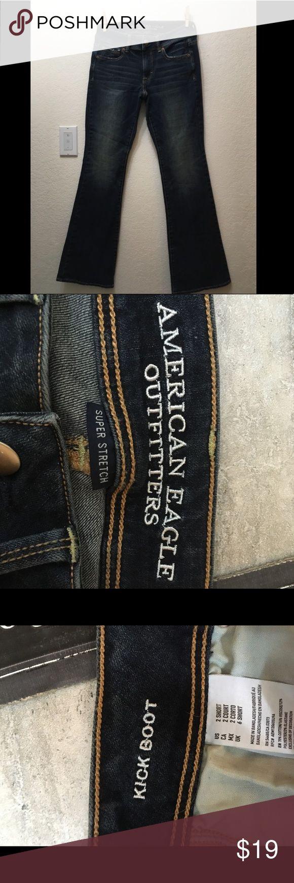 Boot cut women's dark wash jean Size 2 short women's dark wash NEVER WORN ;)) jeans Jeans Boot Cut
