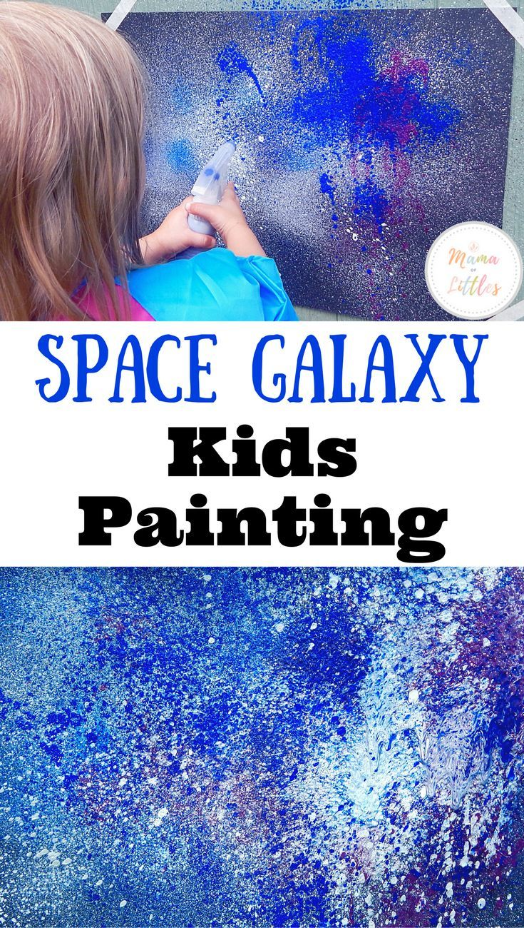 This simple space galaxy painting project is perfect for any age child!