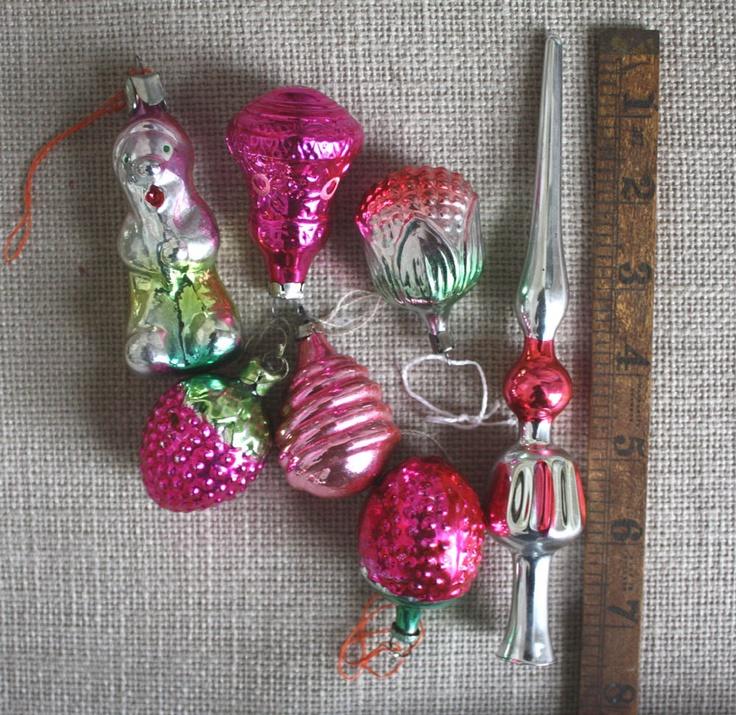 Traditional Glass Christmas Tree Ornaments : Tree topper and christmas baulbs mercury glass