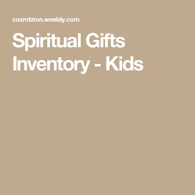 Best 25 spiritual gifts test ideas on pinterest do anything spiritual gifts inventory kids negle Images