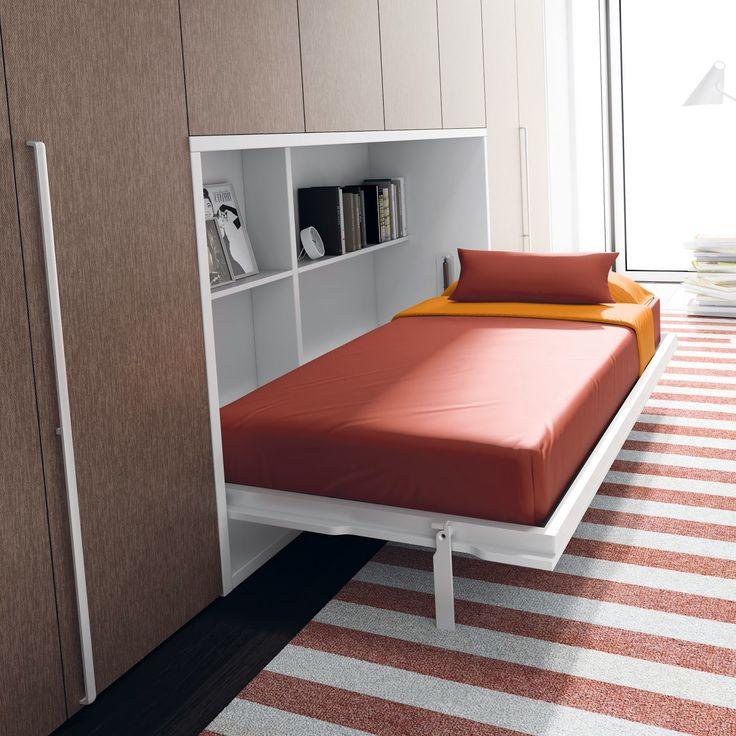 Las 25 mejores ideas sobre camas abatibles en pinterest for Mueble que se convierte en cama