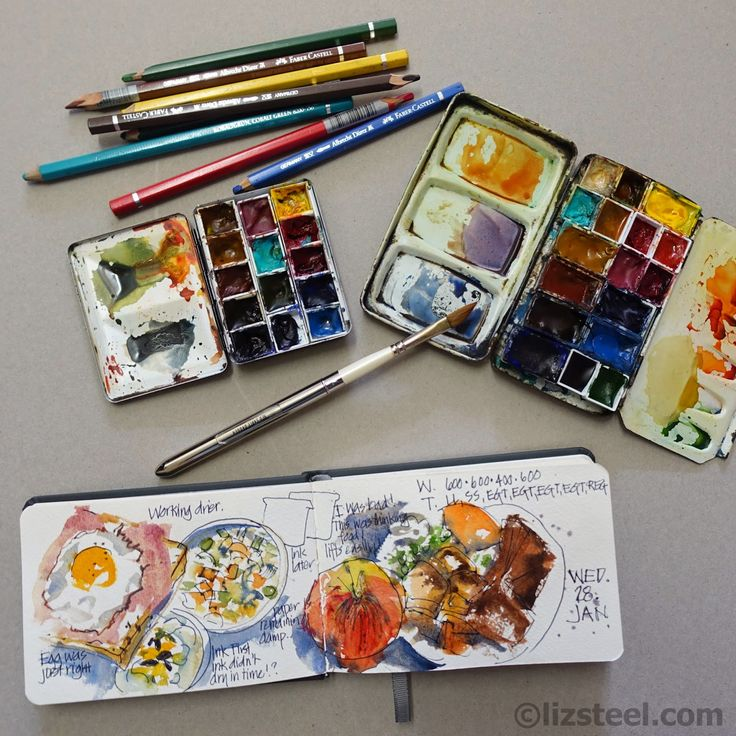 Veggie Colour: making adjustments to my watercolour palette
