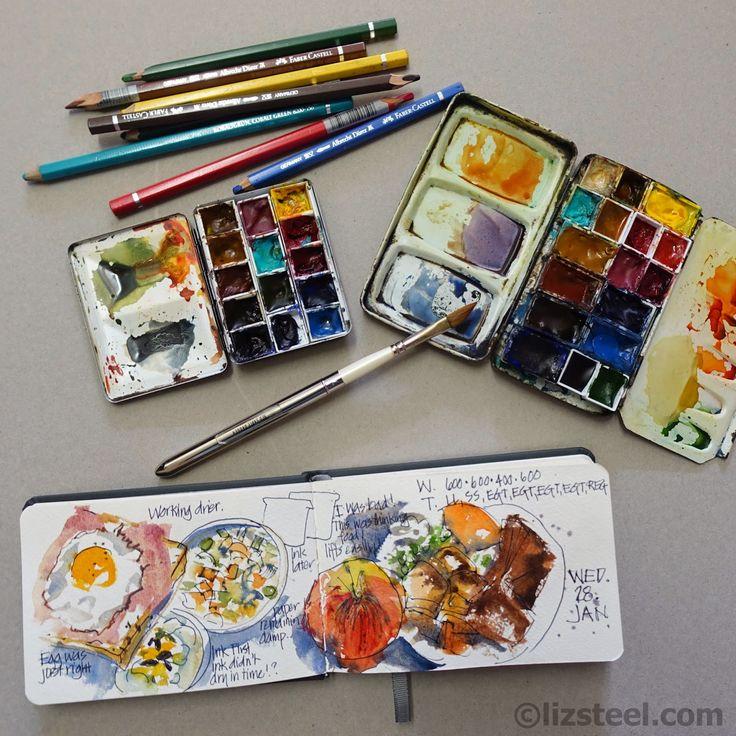 Veggie Colour: making adjustments to my watercolour palette