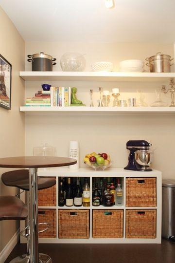 Kitchen storage: Smart Kitchens, Ikea Ideas, Kitchens Spaces, Ikea Bar, Kitchens Renovation, Kitchens Nooks, Storage Ideas, Kitchens Storage, Kitchens Organizations