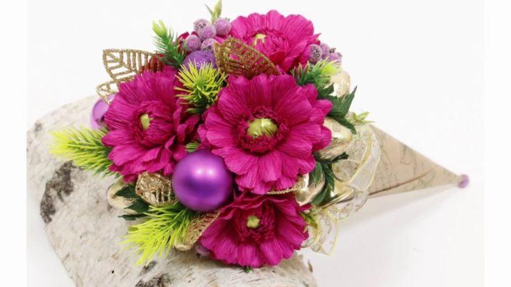 МК - Кулёк с цветами из конфет