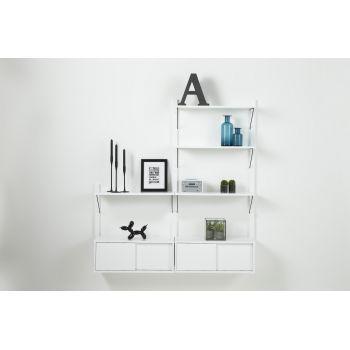 "Raft Etajera din MDF Declan White System 1 living - o varianta practica, simpla si eleganta pentru sufrageria ta. Acest articol iti va permite sa ""gestionezi"" mult mai bine spatiul din sufrageria ta. #mobilaliving #rafturi #rafturiliving #DecoStores #amenajarinterioare #interiordesign #shelves #livingroomshelves"