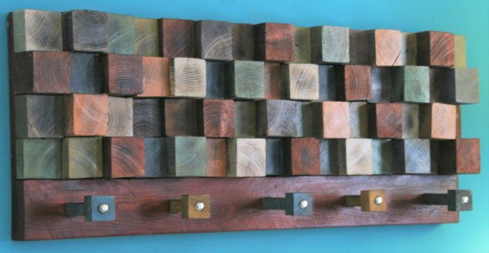 Currently at the #Catawiki auctions: Coat rack from reclaimed pine wood, 2016, Greece